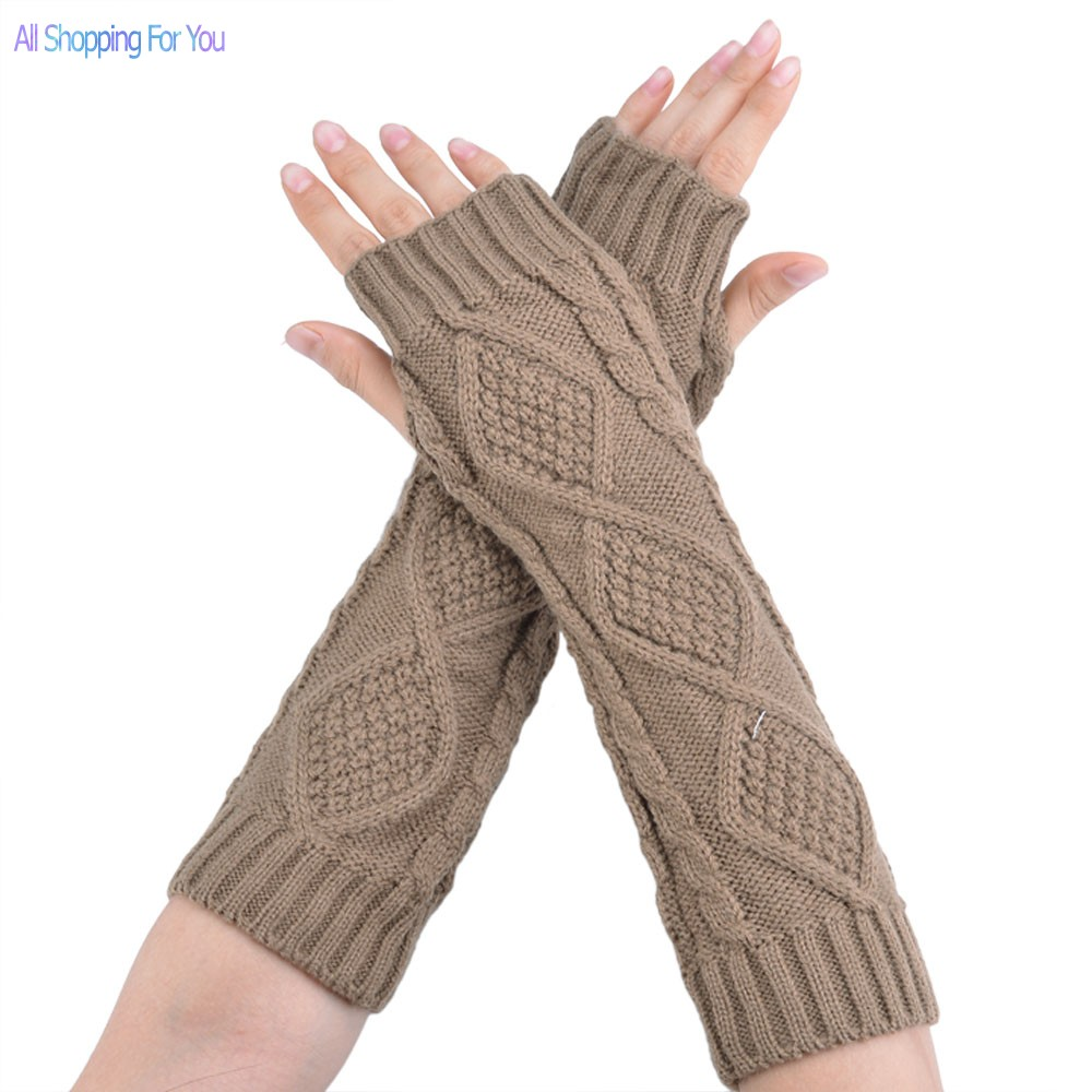 18540a044c634 Get Quotations · Gloves Women Fashion Arm Warmer Womens Fingerless Long  Gloves 4 Colors Free Shipping 51