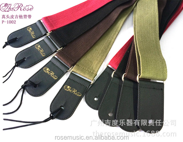Manufacturing high - quality leather head dacron guitar straps