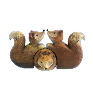 Custom Home Decor Cute Animal Resin Fox Family Figurine