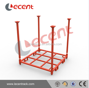 Industrial Foldable Stacking Round Feet Tire Stacking Transport Rack with customized Size For Sale