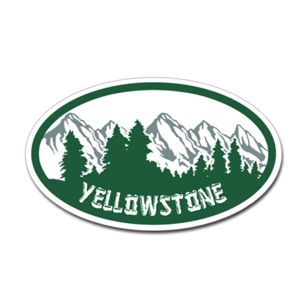 CafePress - Yellowstone Oval Sticker Sticker (Oval) - Oval Bumper Sticker, Euro Oval Car Decal