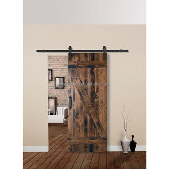 Attrayant Rustica Styleu0026quot;Zu0026quot;Solid Wood Interior Barn Door Slab With Sliding Door  Hardware Kit