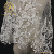 High quality fancy net flat mesh embroidery white bridal lace fabric