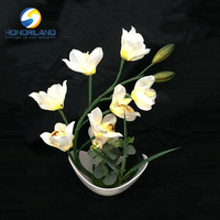 Battery Yellow Flower Led Light, Table Lamp Led, Solar Indoor Night Light