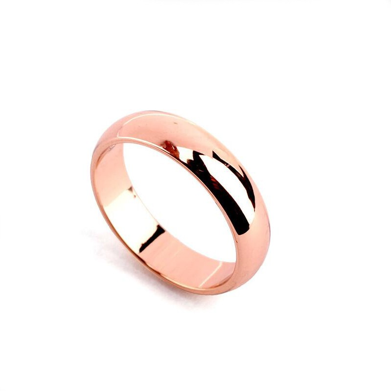 Wholesale Simple Cheap 18kgp Couple Band Finger Rings Without ...