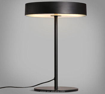 iron and acrylic material Black E27 lampholder LED table lamp