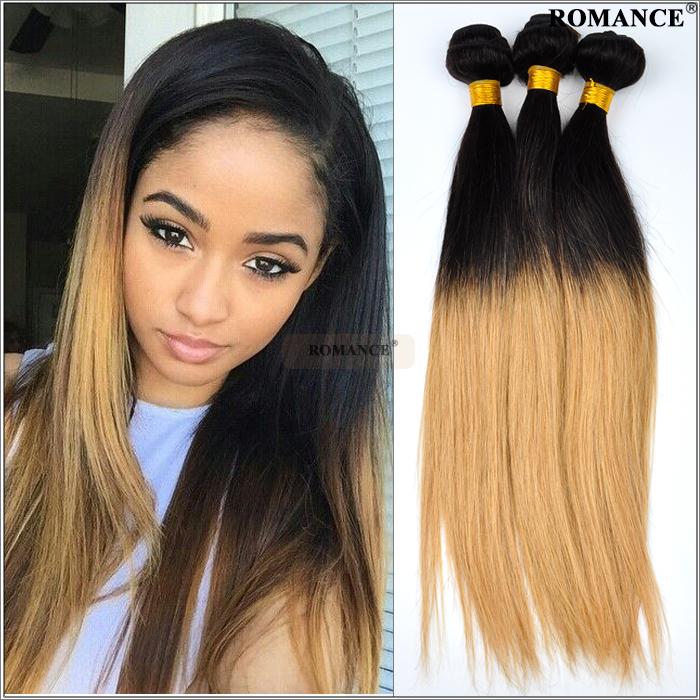 Romance Cheap 6a Ombre Human Hair Weave 3pcs Lot Silky