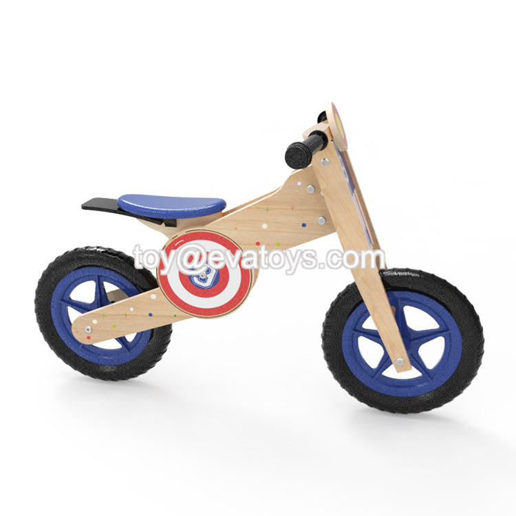 good quality beautiful kids wooden balance bike W16C186