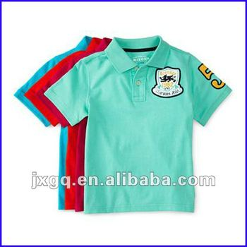 412b7f643 Short sleeve hi vis embroidery fashion cheap kids polo shirts wholesale
