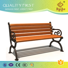 Garden Cast Iron Bench With Handrail and Backrest BH14703