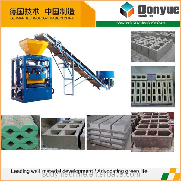 automatic cement block moulding machine brick wall building machine soil