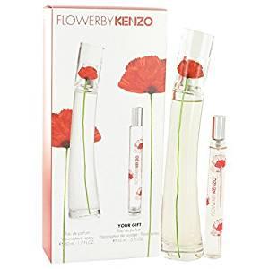 7b629563a Kenzo Flower Perfume By KENZO Gift Set - 1.7 oz Eau De Parfum Spray + 1