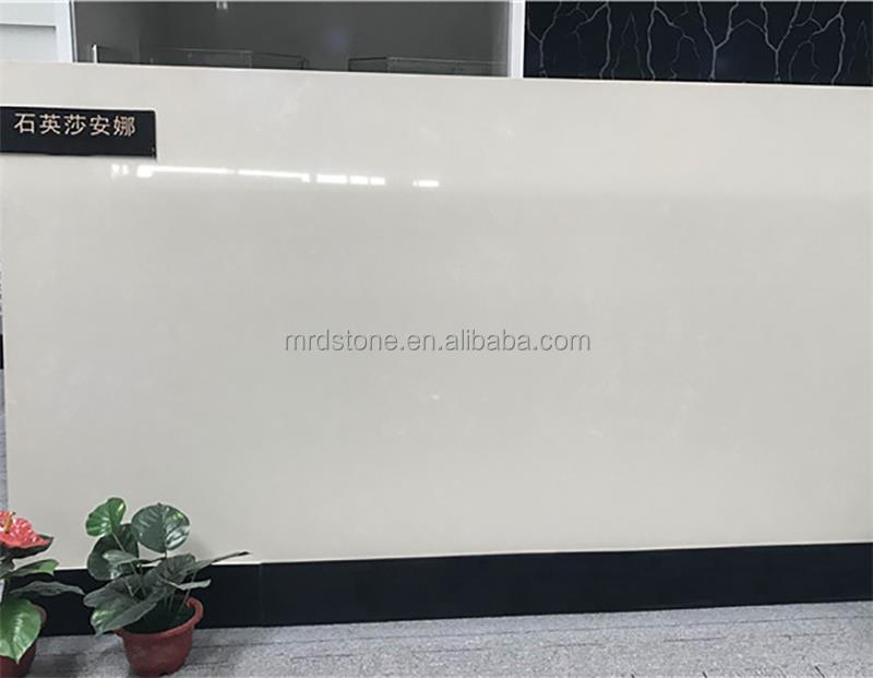 Factory Price Surface Polished Artificial White Quartz Slab
