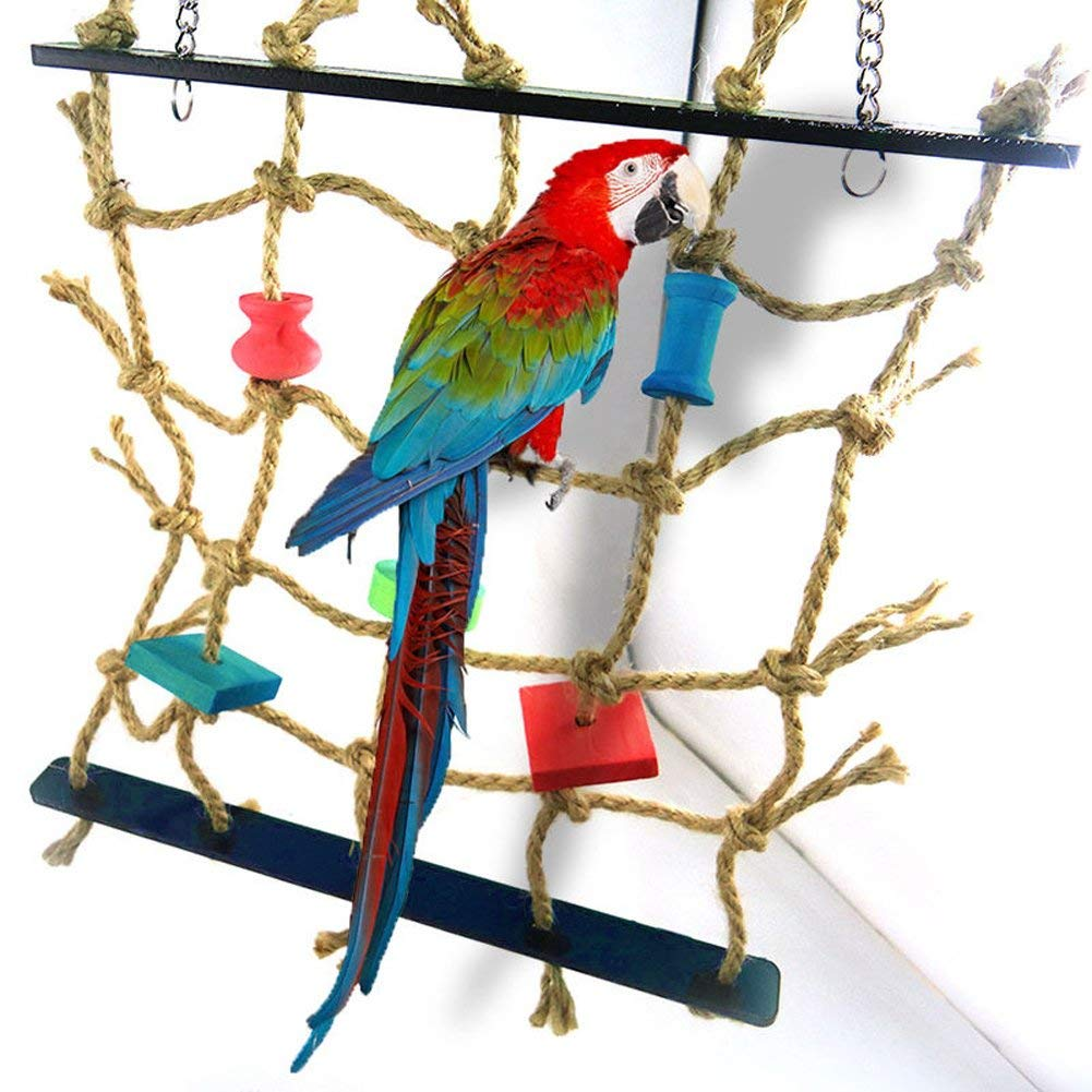 New Parrot Birds Climbing Net Jungle Rope Animals Toy Swing Ladder Chew Bathroom Fixtures