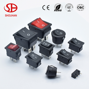 KCD series red boat shape switch on-off rocker switch
