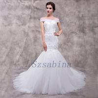 Wholesale 2017 alibaba wedding dress mermaid sweetheart neck lace up with long train