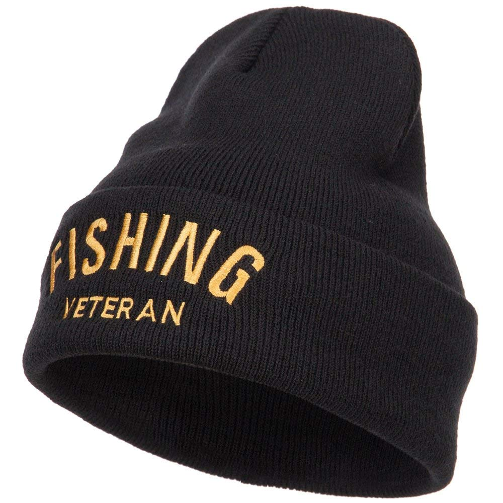 b95ed8cfd752e Get Quotations · Fishing Veteran Embroidered Long Beanie