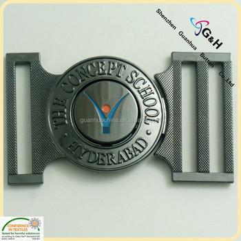 e0290df73729 Personnalisé gravé logo design de mode forme ovale western boucles de  ceinture