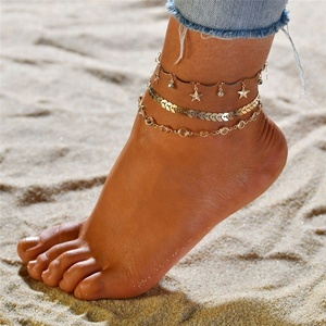 Gold Chain Anklet Set Chain Anklets For Women Summer Beach Holiday Anklet Jewelry