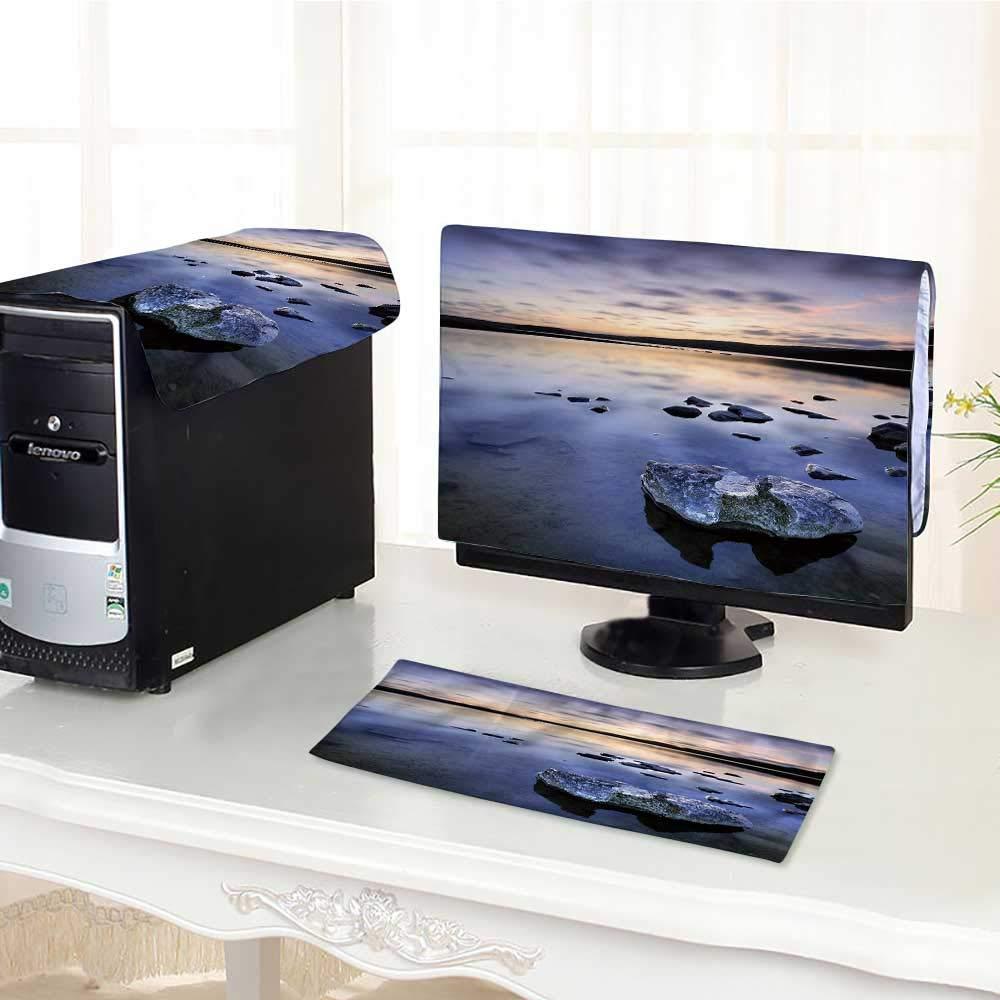 "UHOO2018 Desktop Computer Cover 3 Pieces malham tarn Yorkshire Scratch Resistance /27"""