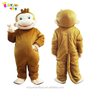 Enjoyment CE funny monkey curious george mascot costume for adult