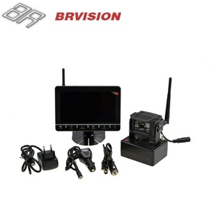 Wireless Backup Camera System with Built-in DVR and Quad View Monitor