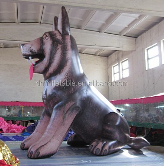 customize promotional inflatable giant wolf