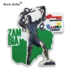 Customized 3D Die cut soft PVC fridge magnets for souvenirs Zambia