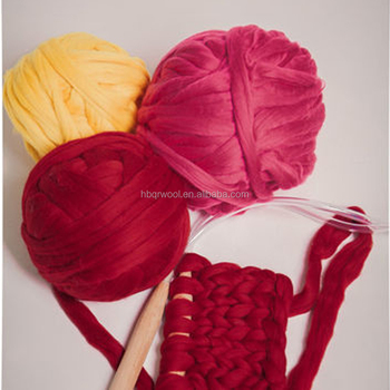Dyed Pattern And Woolen Yarn Type Felted Yarn 100 Merino Wool Yarn