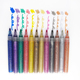 Great price 6 colors permanent waterproof glitter marker pens for party