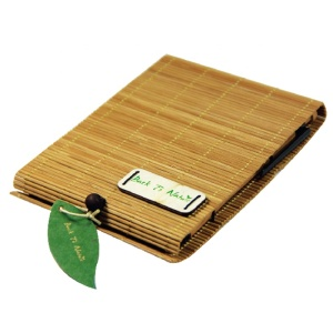 ECO BAMBOO NOTEBOOK PEN SET
