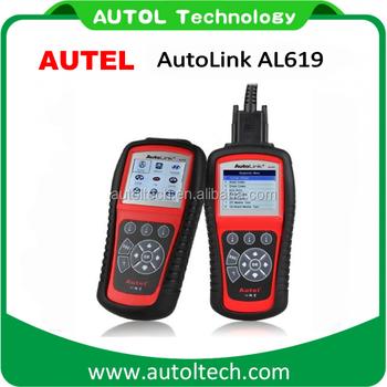 Original Autel Autolink AL619 ABS/SRS + CAN OBDII Diagnostic Scan Tool Turn  Off Check
