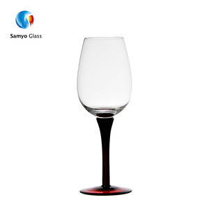 New style black sublimation blank cobalt blue wine glass