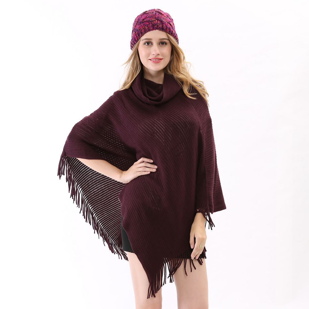 Cheap hooded cape poncho find hooded cape poncho deals on line at get quotations 2015 winter fall new soft wool prorsum warm cloak brand winter wrap cardigan women cashmere purple bankloansurffo Image collections