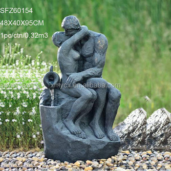 Outdoor Decoration Couple Kissing Garden Figures