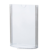 Transparent Oval Acrylic Double DidSd Menu Holder