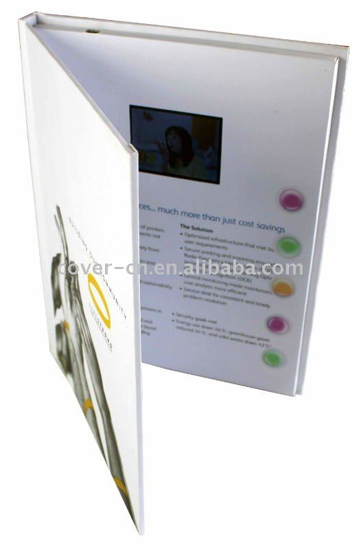Newest Promotion gift Video Greeting Cards with USB port