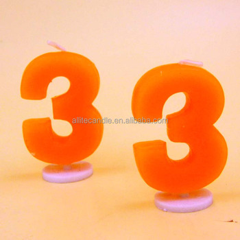 New Type Birthday Number Candle Holder With Best Happy Wishes