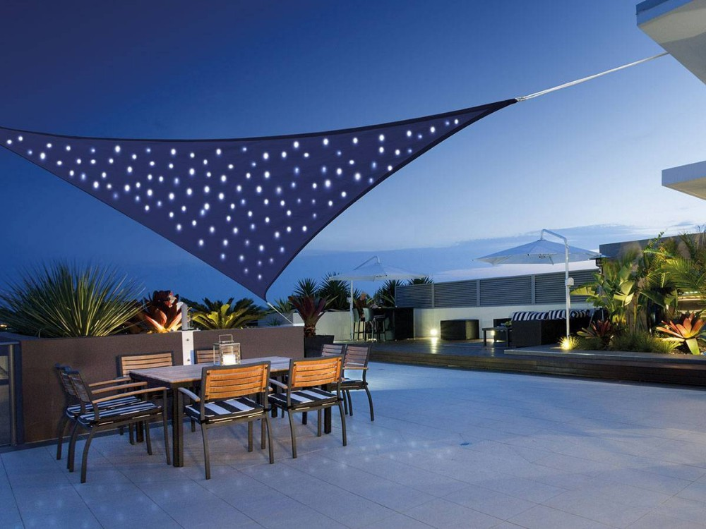 Patented Solar Light System Starry Sky Sail Led Shade Waterproof Wind Triangle Sun With