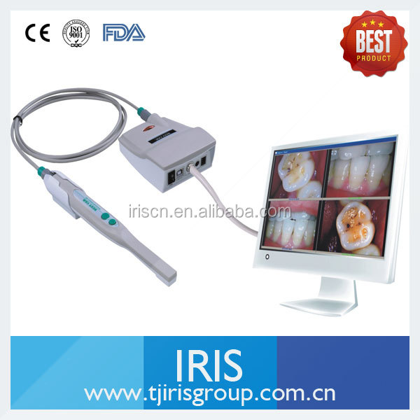Build in webcam 15 inch white dental monitor with SONY CCD intraoral camera