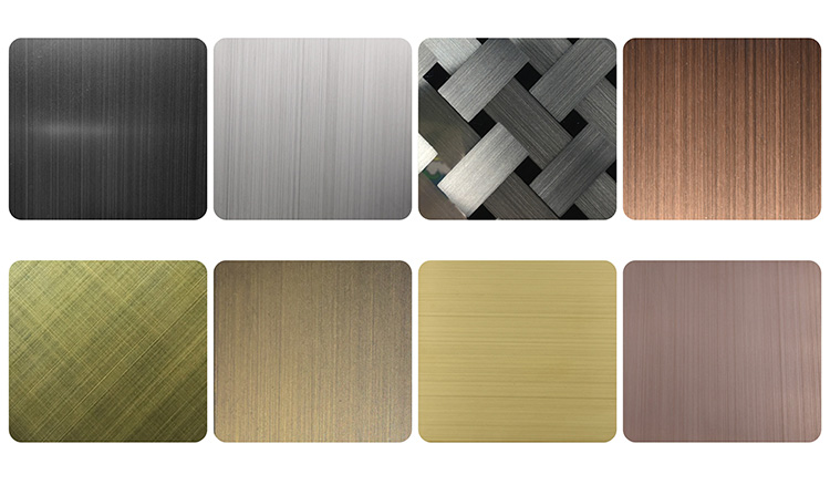 201 304 wall decorate hairline stainless sheet steel