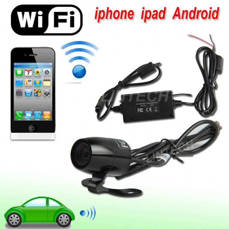 2015 NEW WIFI wireless rearview camera for cars work with iphone Android ipad