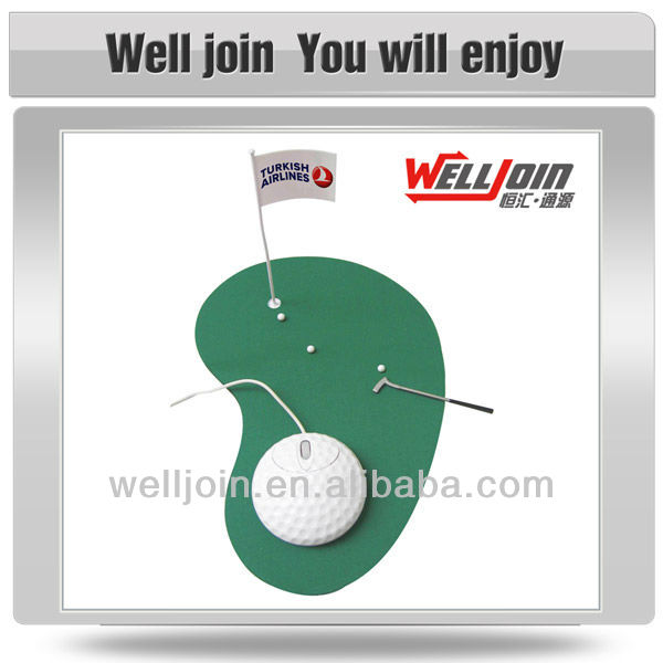 Classic Golf Mouse Kit, Promotional Golf Mouse, Wired Golf Mouse