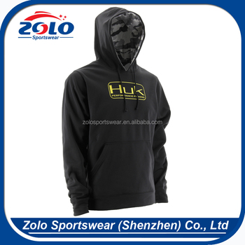 Cheap Custom Plain Black Pullover Pocket Hoodie for men