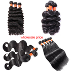 Cuticle aligned virgin hair indian remy hair,10A raw indian hair bundle in dubai,deep wave wholesale indian human hair extension