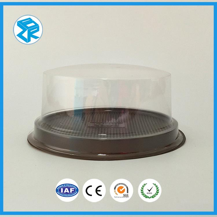 Blister Gold Plastic Disposable Round Cake Packaging Box Container