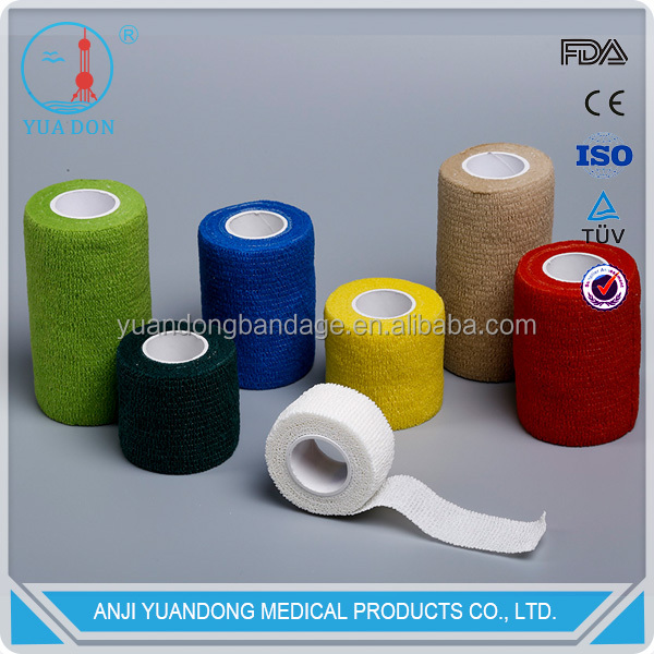 YD70047Medical colored Non-woven Self-adhesive elastic bandage