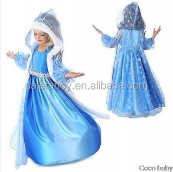 Girls Frozen Queen Elsa Winter Hooded Dress Long Childrenu0027sSnowflake Cape Costume QKC-2152  sc 1 st  Alibaba & Girls Frozen Queen Elsa Winter Hooded Dress Long Childrenu0027ssnowflake ...