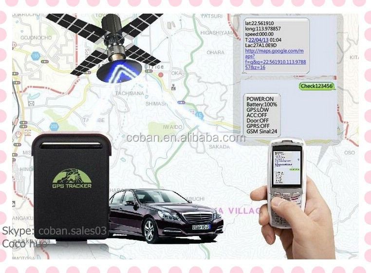 mini Gps tracker for car/ personal TK102B /GPS102 Location based service(LBS) + GPS double real time tracking solution,monitor