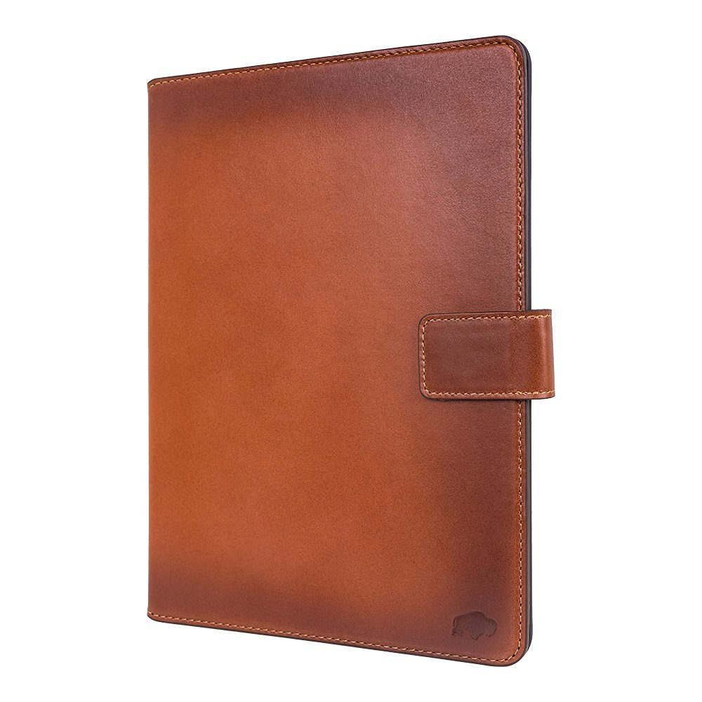 "Burkley Premium Luxury Leather Wallet Folio Case for Apple iPad Pro 9.7"" Handmade Genuine Leather iPad Case to fit perfectly to Apple iPad Pro 9.7"" (Burnished Tan)"